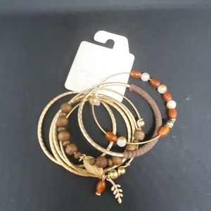NWT Cato Fall Themed Bracelet Set